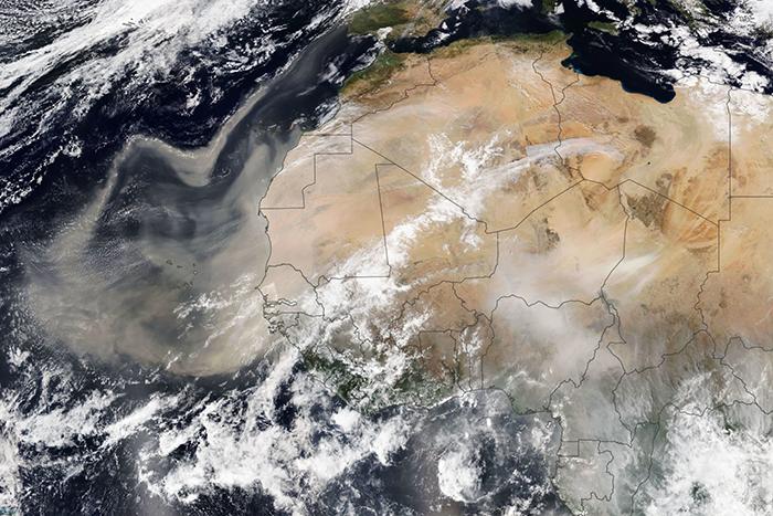 Francuske merne stanice zabeležile cezijum-137 iz saharskog peska