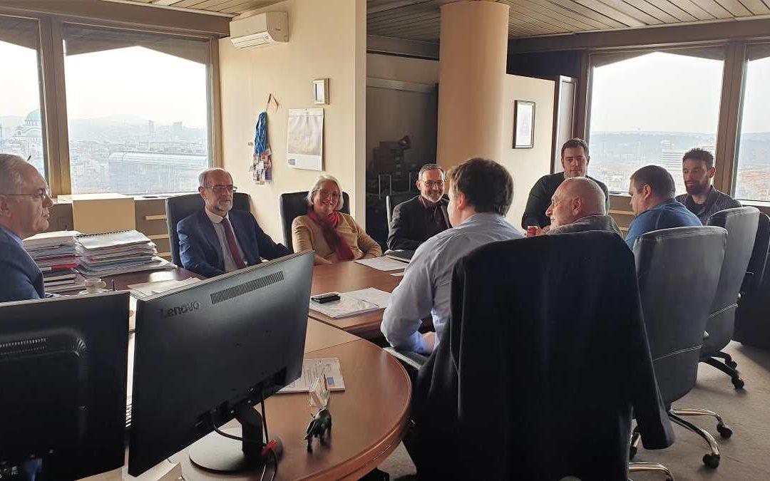 """Састанак са координаторима и представницима конзорцијума за имплементацију пројекта """"EU CBRN CoE Project 67 Strengthening CBRN Waste Management Capabilities in South-East and Eastern European Countries"""""""