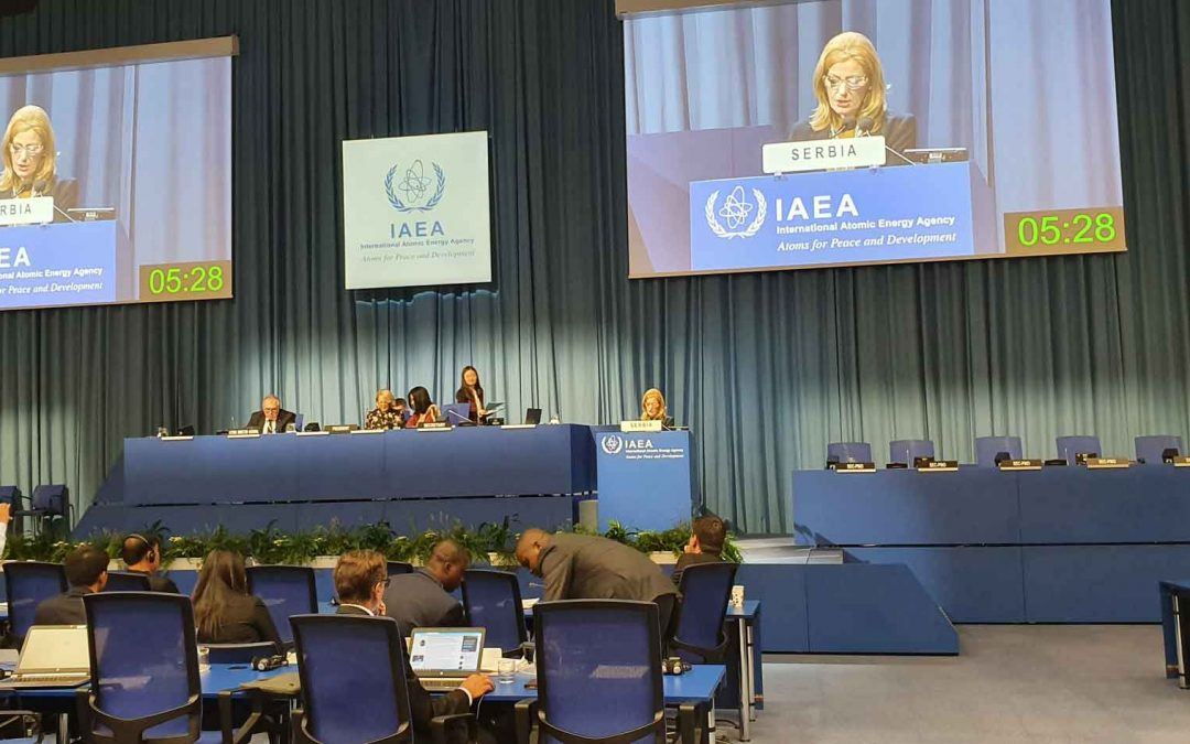 Speech by head of Serbian delegation at 63rd IAEA General Conference
