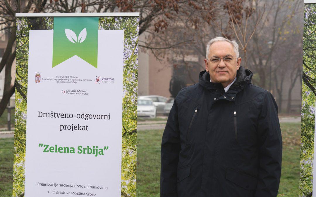 """СРБАТОМ жели да допринесе очувању планете и за будуће генерацијеПројекат """"Зелена Србија"""" реализован у пет места у Србији"""